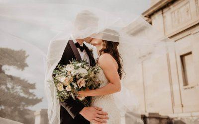 Cores tradicionais do véu de noiva